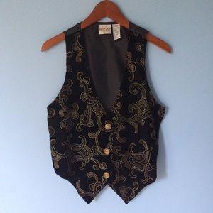 VTG Velvet Metallic Paisley Vest